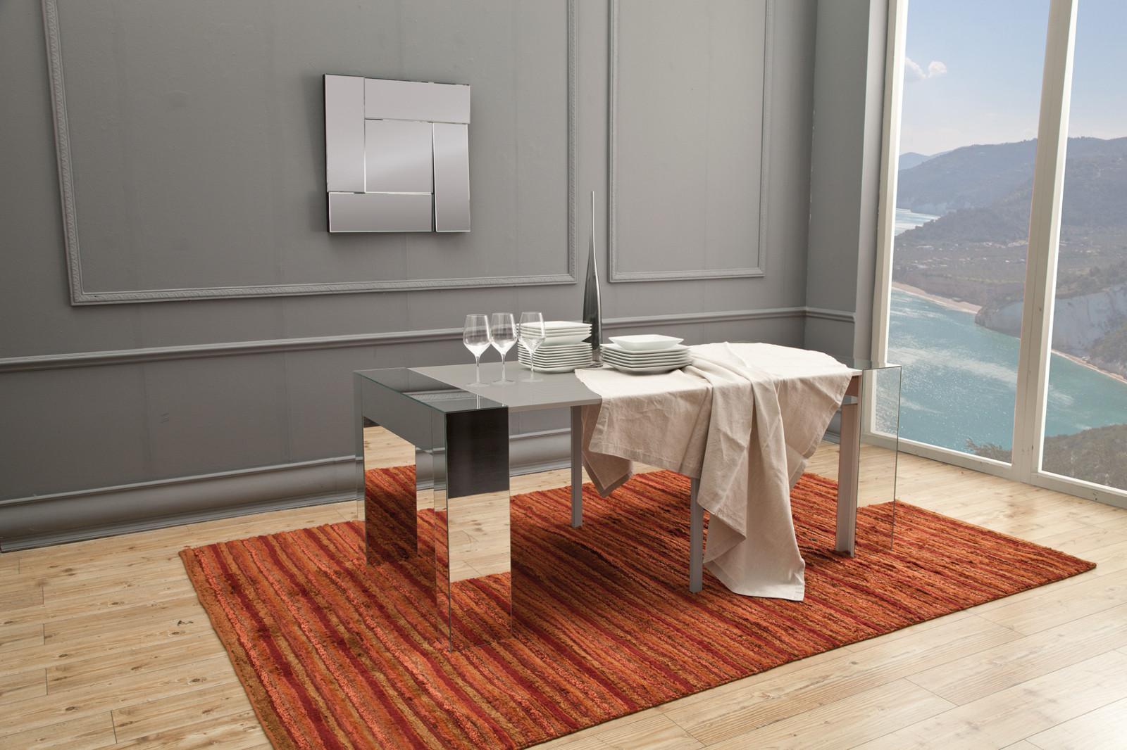 Consolle allungabile a specchio vanity tavolo allungabile for Biesse arredamenti