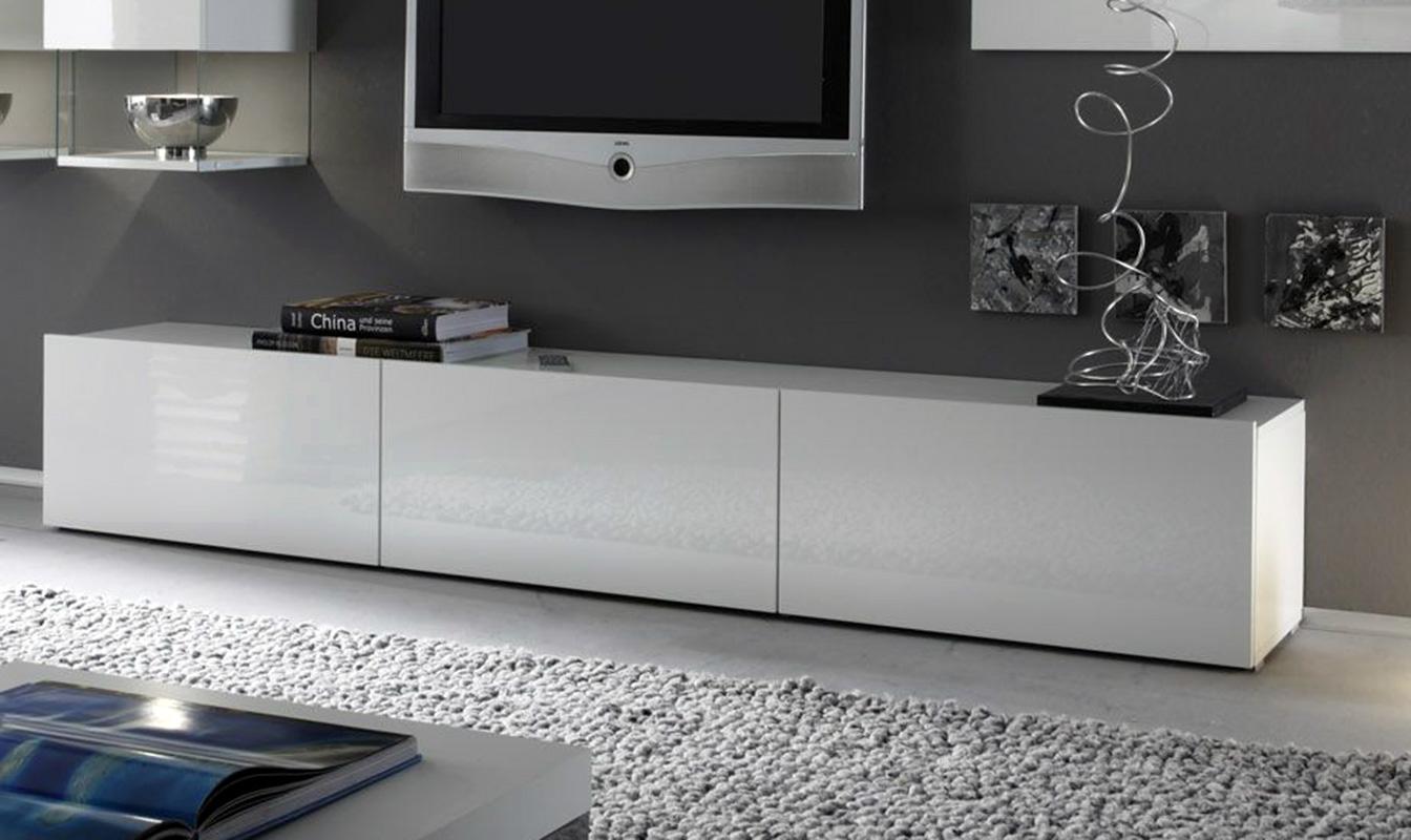 Mobile soggiorno porta tv matera bianco laccato lucido 3 for Mobile soggiorno bianco