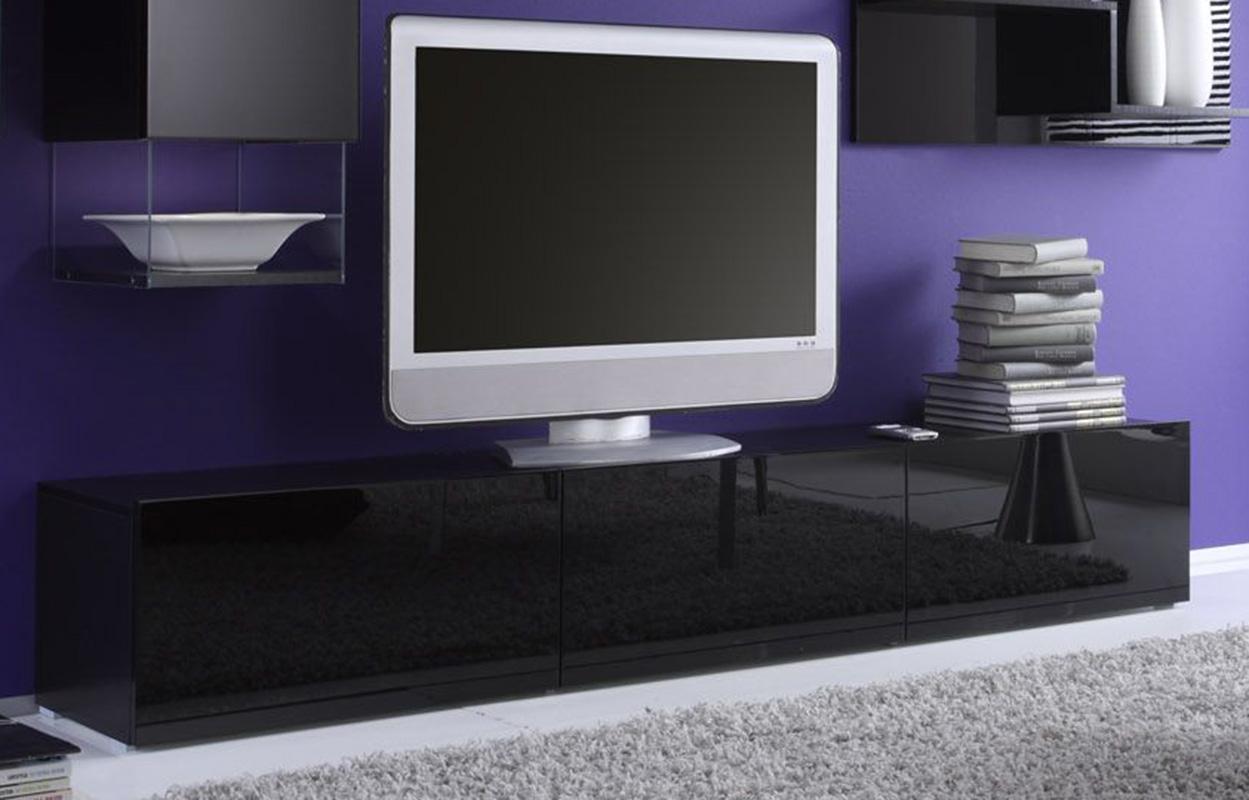 Porta tv nero lucido tutte le immagini per la - Porta tv nero ...