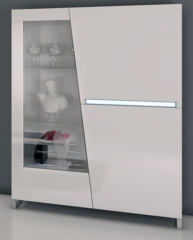 Vetrina 2 ante cooper bianca moderna cristalliera kit di montaggio ...