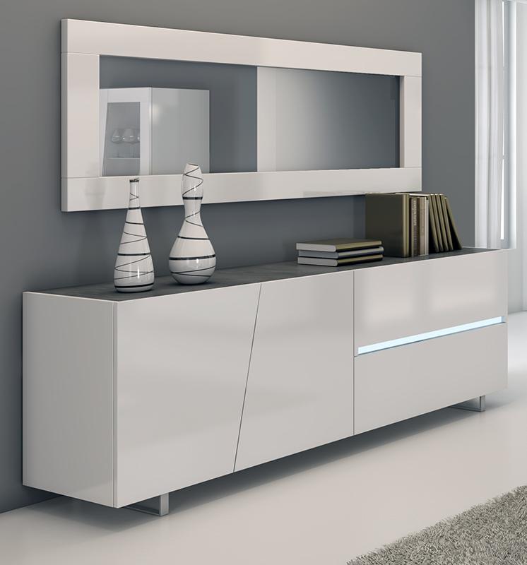 Detalles de Madia Buffet Cooper Credenza Moderna Bianca in Kit di ...