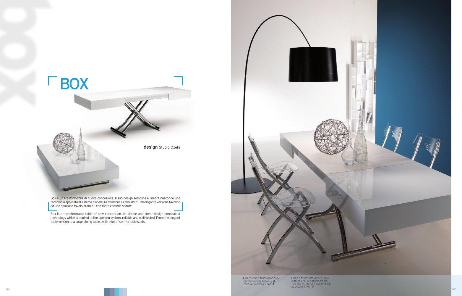 Tavolino box t110 ozzio design trasformabile diventa - Tavolo box ozzio ...